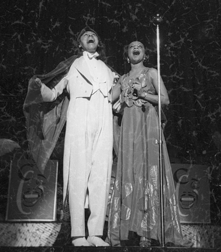 1940ca ANDREWS Avis and Cab CALLOWAY by Hugh Mort