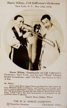 White Harry and Cab LIberty trombone ad card.jpg