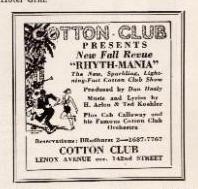 1931 10 Cotton Club Ad Rhythmania.png