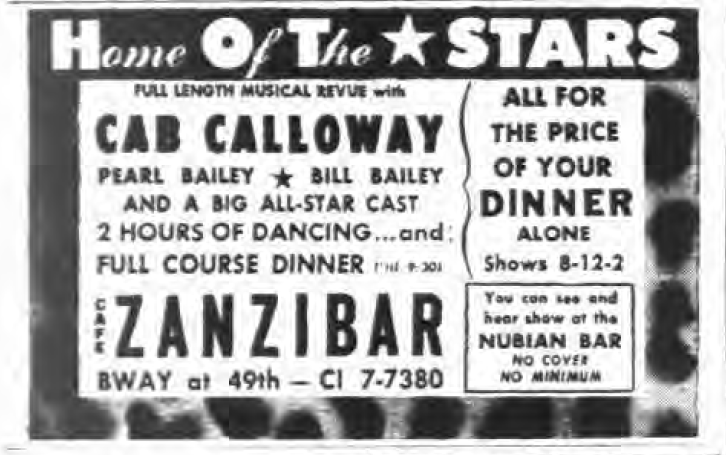 1945 0830 NY Evening Post Zanzibar ad HOT Stars.png