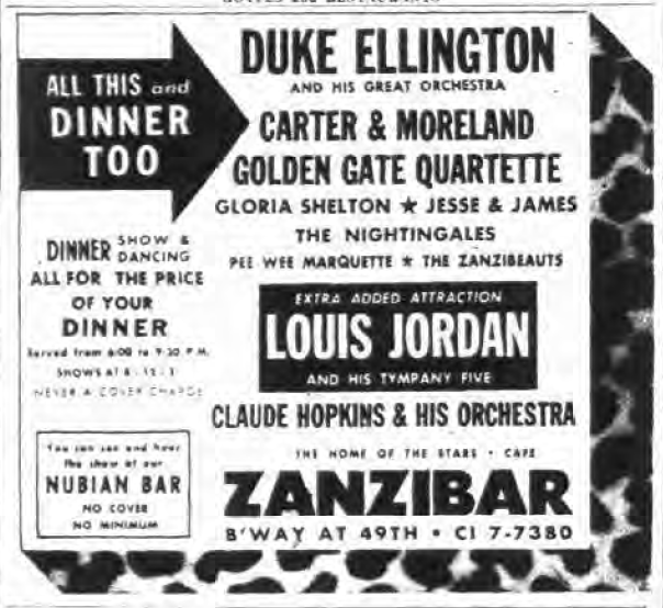 1945 1002 NY Post Zanzibar Ad Ellington Louis Jordan.png
