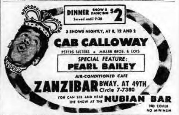 1946 0813 NY Post Zanzibar Ad Pearl Bailey Cab Calloway.png
