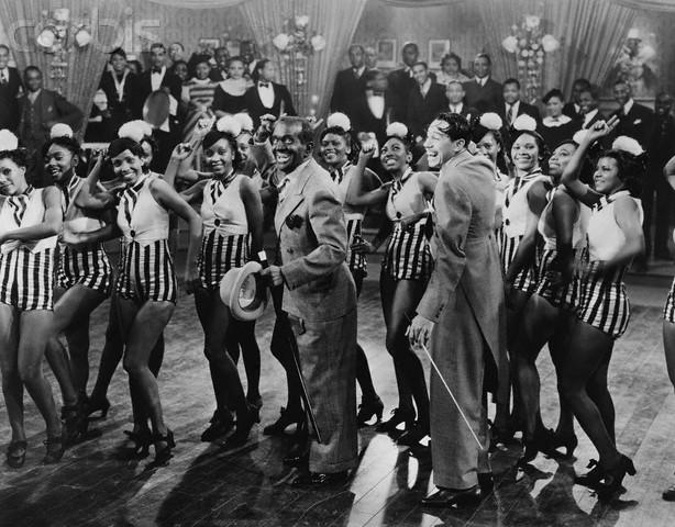 1936 Singing Kid Al and Cab and chorus girls JS2181.jpg