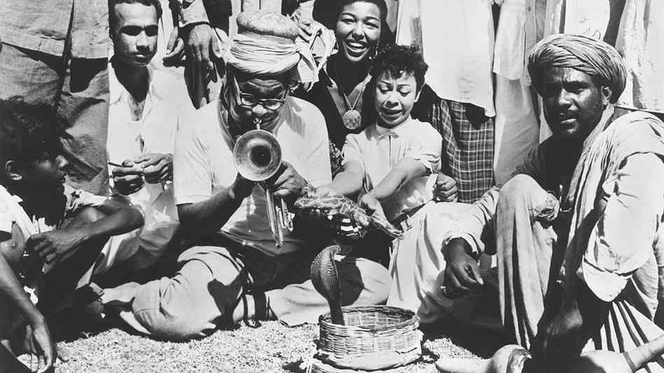 1956 Dizzy Gillespie and Dottie Salters and Melba Liston Karachi Pakistan.jpg