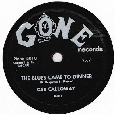 45 T GONE Blues Came To Dinner.JPG