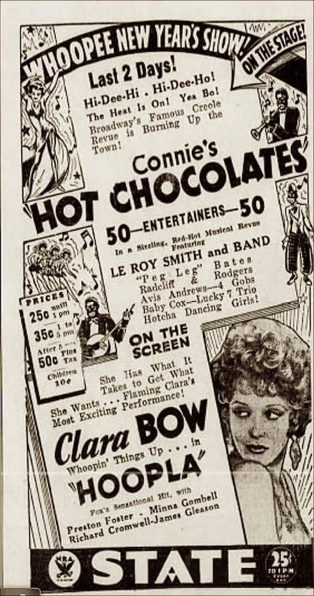 1933 Hot Chocolates ad with Hi de Ho ref.jpg
