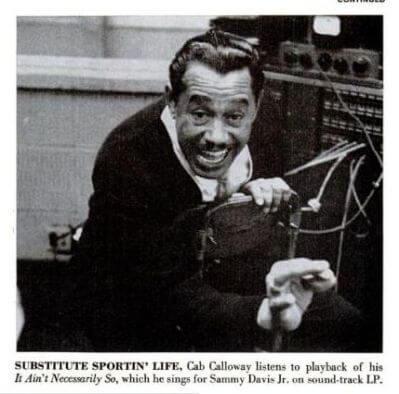 04B 1958 Cab in studio substitute for Sammy Davis in Porgy and Bess.jpg