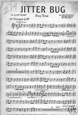 Jitter Bug sheet music, Cab Calloway, Edwin Swayzee